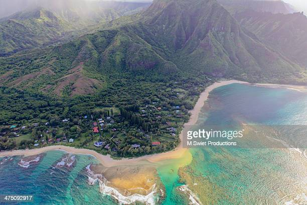 aerial nother shore kauai