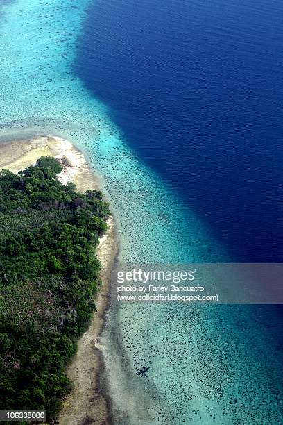 aerial of a beach in ngagu - zanzibar island stock photos and pictures