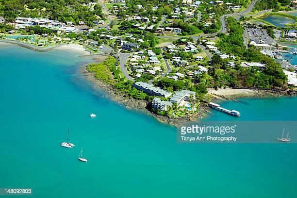 Aerial of Airlie Beach
