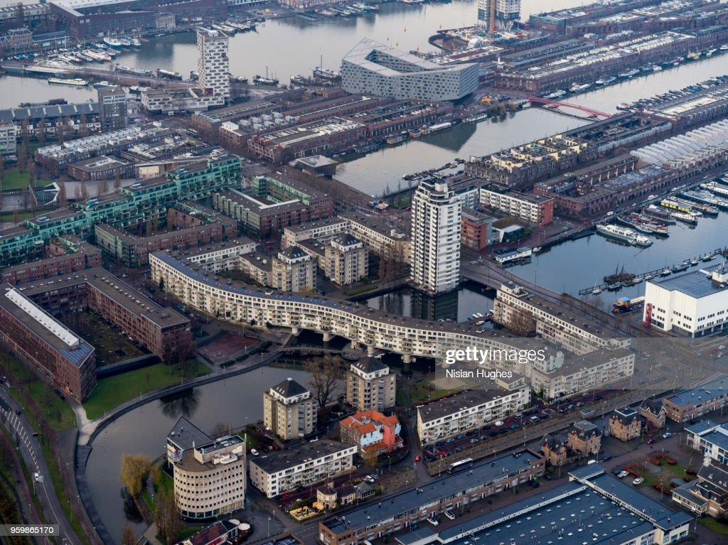 Aerial of Amsterdam center : Stock-Foto