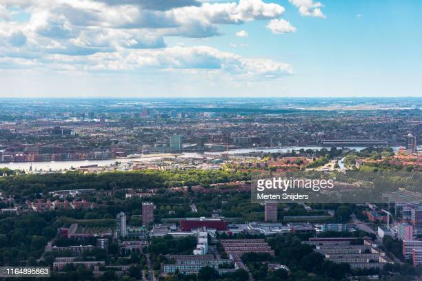 aerial of amsterdam-noord nieuwendam buiksloot - merten snijders stock pictures, royalty-free photos & images