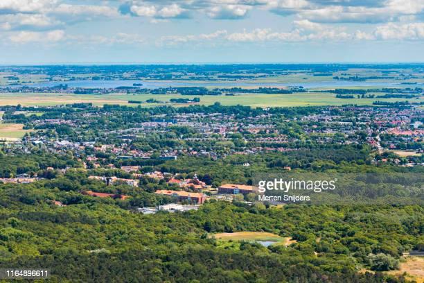 aerial of bakkum and castricum's duin en bosch district - merten snijders stock pictures, royalty-free photos & images