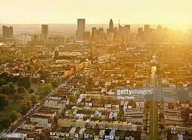 Aerial of Baltimore Skyline