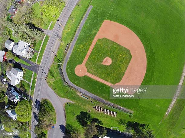 Aerial of Baseball Diamond