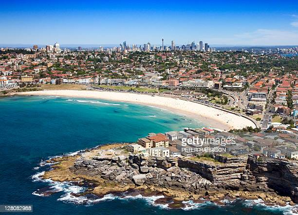 Aerial of Bondi Beach, Sydney, New South Wales, Australia