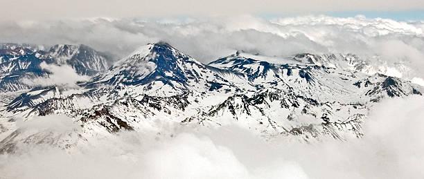 Aerial Of Cerro Tupungato And Volcán Tupungatito Wall Art