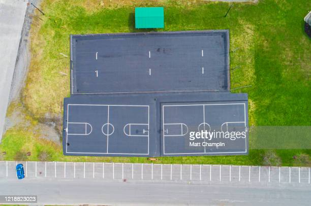 aerial of closed playground - syracuse new york stock pictures, royalty-free photos & images