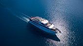 aerial cruise ship ms romantic star