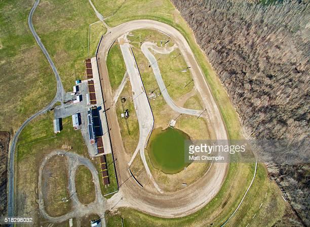 Aerial of Dirt Racetrack