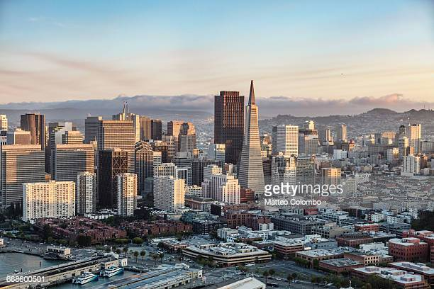Aerial of downtown district, San Francisco, USA