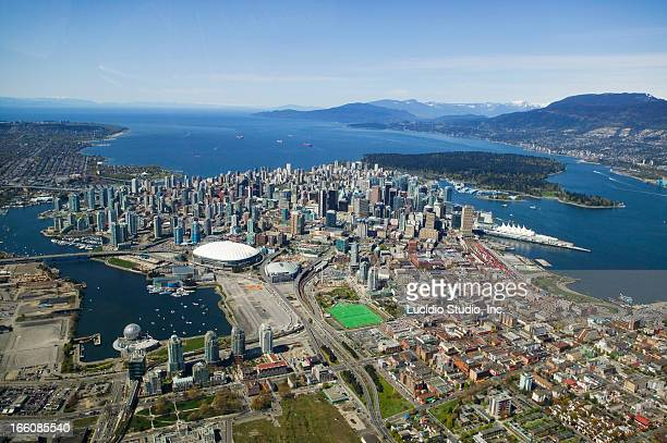 Aerial of downtown Vancouver