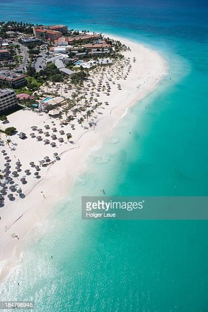 Aerial of Eagle Beach
