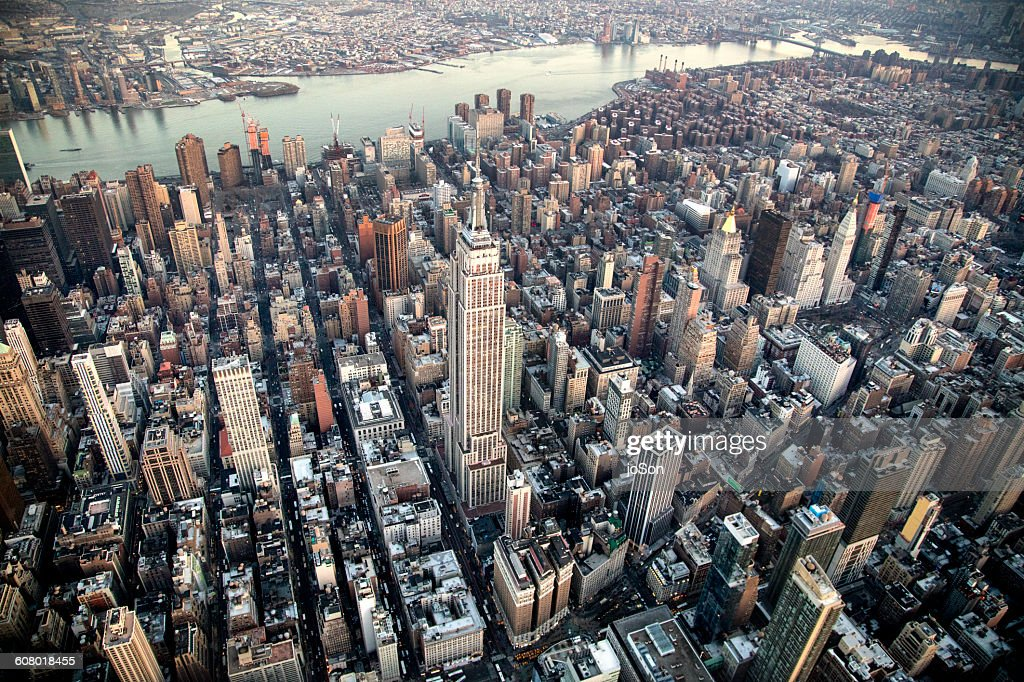 Aerial of Empire State Building  and Manhattan : Stock Photo