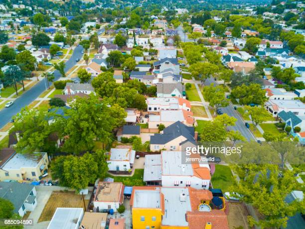 aerial of homes - irvine california stock pictures, royalty-free photos & images