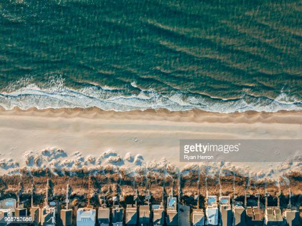 Aerial of Houses on the Beach