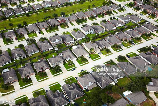 Aerial of Houston neighborhood