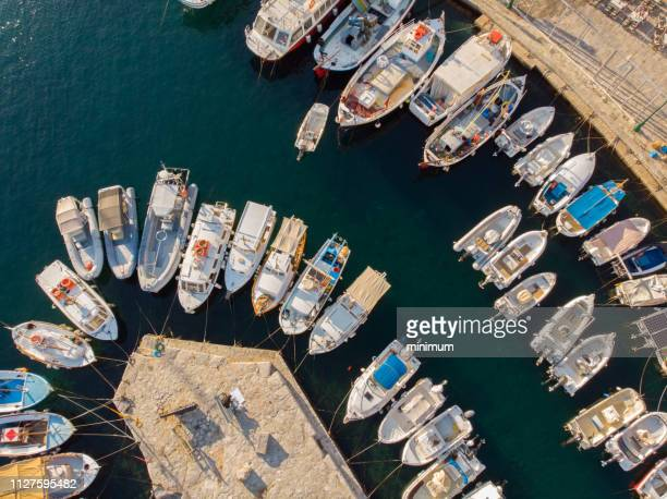 aerial of hydra greece - hydra greece photos stock pictures, royalty-free photos & images