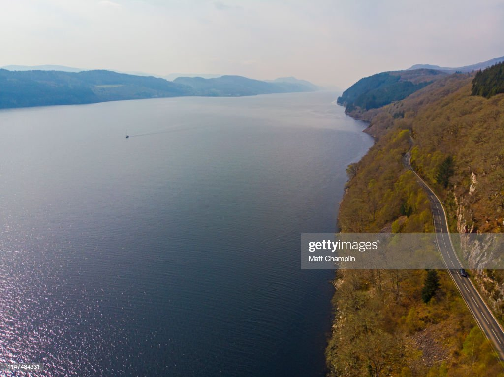 Aerial of Loch Ness : Stock Photo