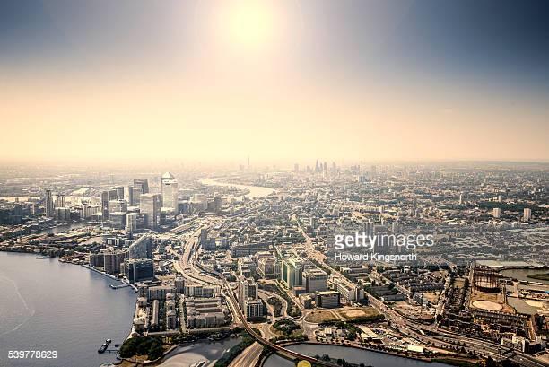 Aerial of London looking west