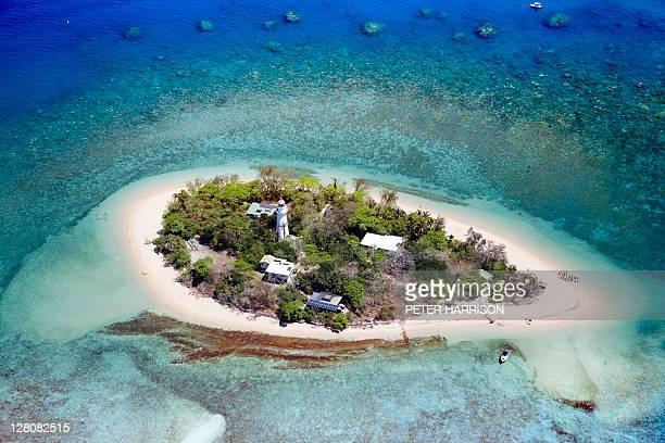 Aerial of Low Isles, Great Barrier Reef.