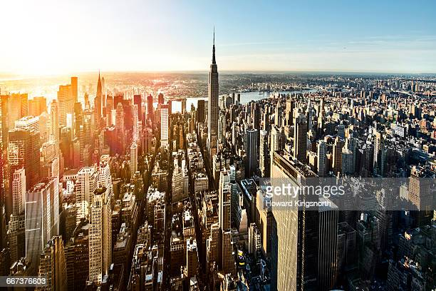 Aerial of Manhattan, NYC