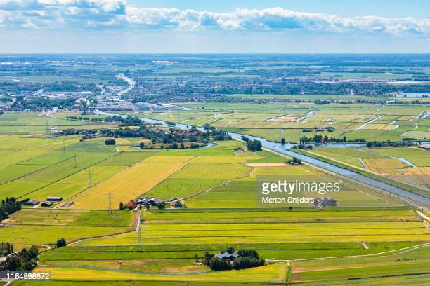 aerial of markervaart and markenbinnen town - merten snijders stock pictures, royalty-free photos & images