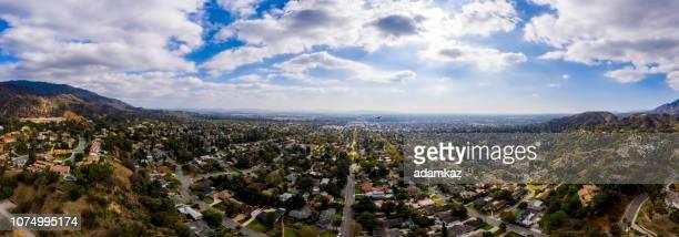 Aerial of Monrovia, California