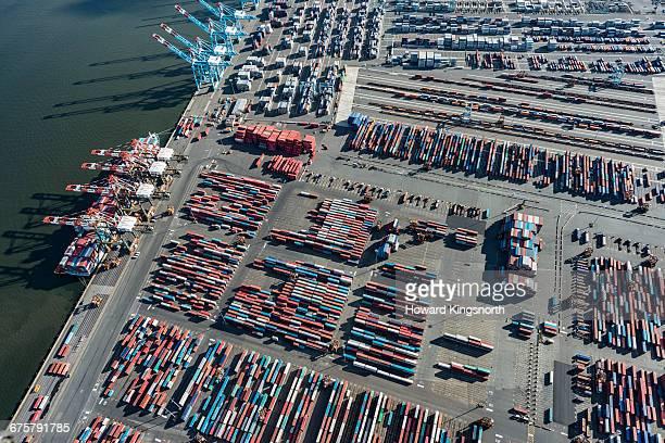 aerial of Newark Dockside