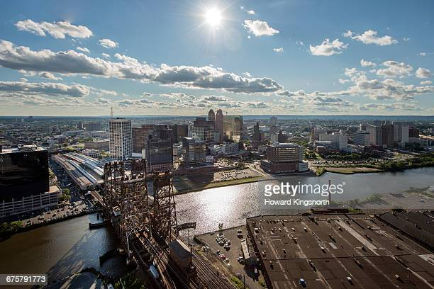 Aerial of Newark, New Jersey