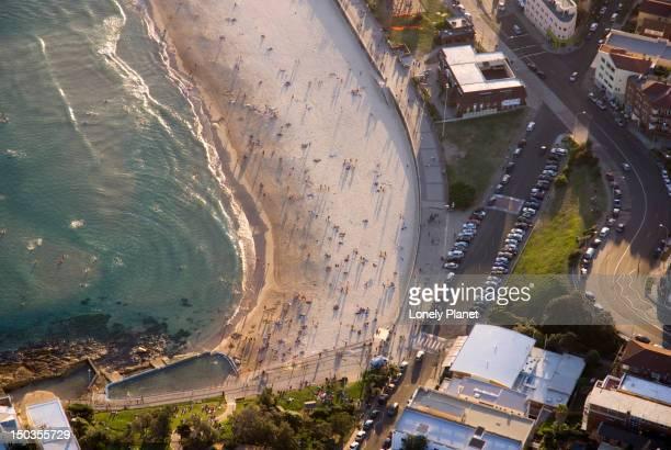 Aerial of North Bondi Beach.