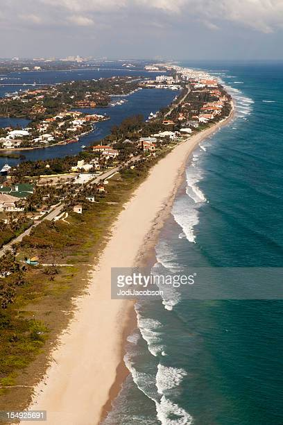 Aerial of Palm beach county florida