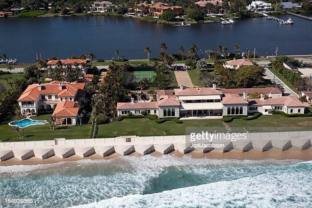 空から見た「パームビーチ郡フロリダ州 - ウェストパームビーチ ストックフォトと画像