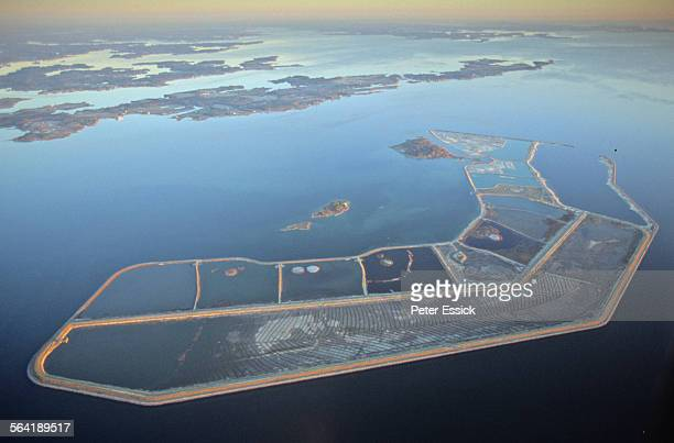 aerial of poplar island, md. - chesapeake bay stock pictures, royalty-free photos & images