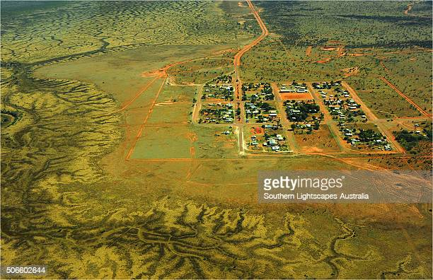 Aerial of Qulpie, outback Queensland, Australia