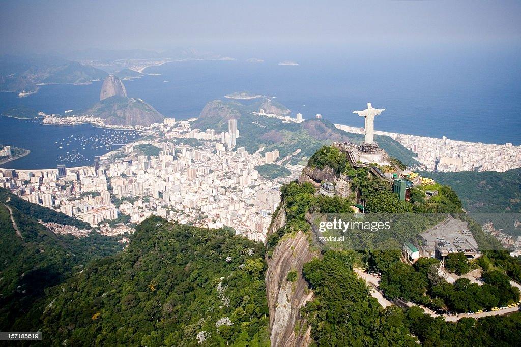 Veduta aerea di Rio de Janeiro : Foto stock