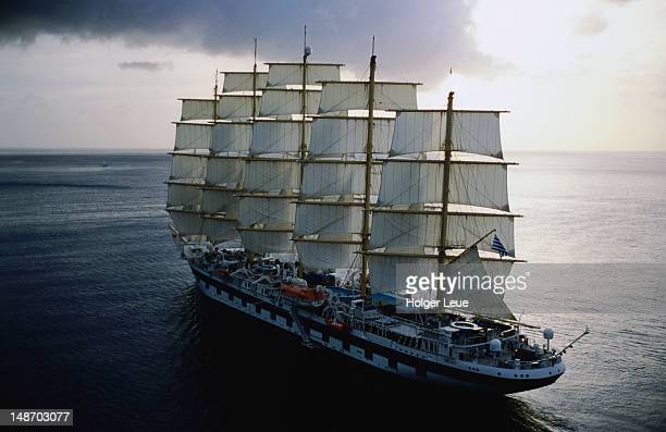 Aerial of Royal Clipper.