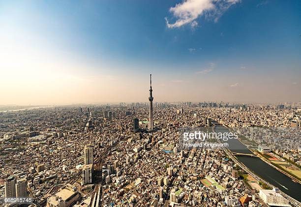 Aerial of Skytree Tower, Tokyo