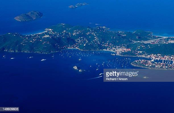 Aerial of St Barts.