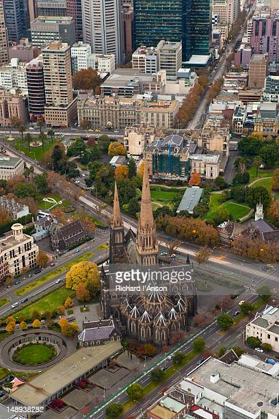 Aerial of St Patrick's Cathedral.