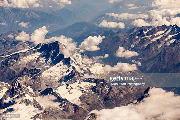 Aerial of the French Alps