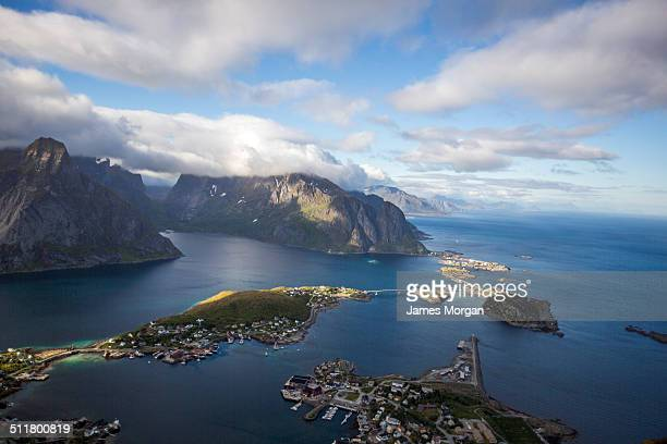 Aerial of the Lofoten Islands