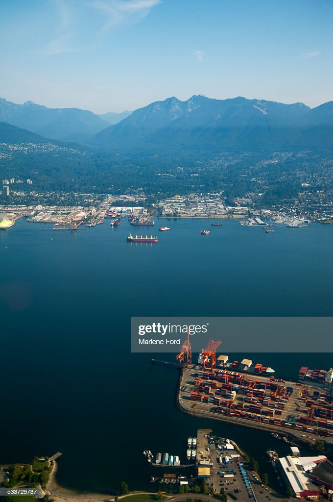 Aerial of Vancouver : Foto stock