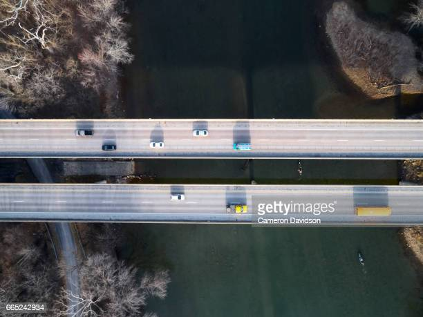 Aerial of Virginia Highway bridge