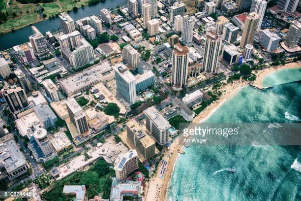 Aerial of Waikiki Beach
