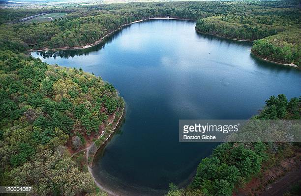 Aerial of Walden Pond