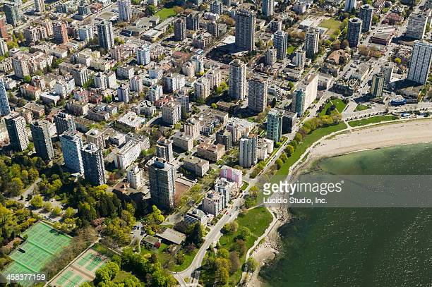 Aerial of West End, Vancouver