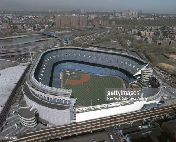 Aerial of Yankee Stadium in the Bronx