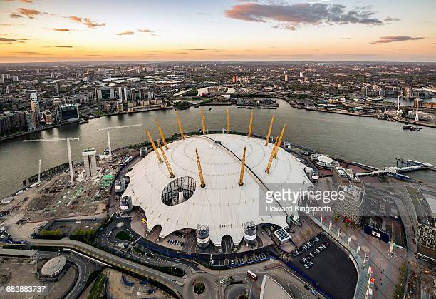 Aerial over The O2 Dome