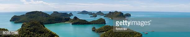 Luftbild panorama des AngThong National Park, Thailand