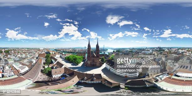 360° Aerial Panorama of Basel Minster, Switzerland